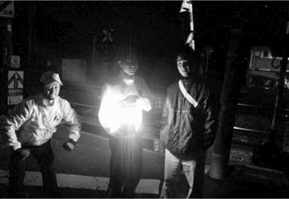 防犯パトロール事業を開始時のメンバー写真
