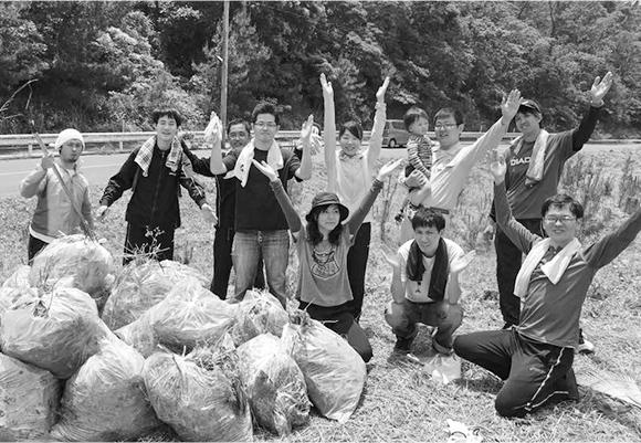 宗像市さつき松原保全活動の写真